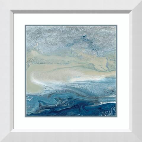 Framed Art Print 'Ocean Blue' by Wendy Kroeker