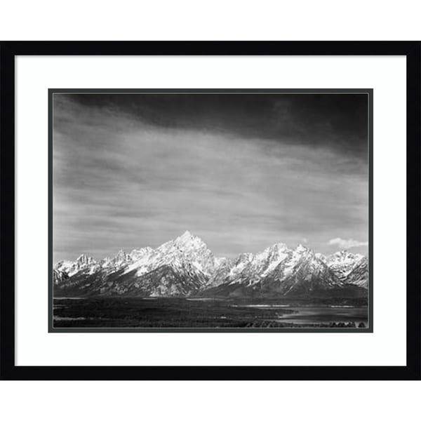 Shop Framed Art Print Tetons From Signal Mountain Grand
