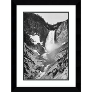 Link to Framed Art Print 'Yellowstone Falls, Yellowstone National Park, Wyoming. ca. 1941-1942' by Ansel Adams Similar Items in Art Prints