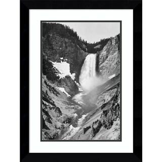 Framed Art Print 'Yellowstone Falls, Yellowstone National Park, Wyoming. ca. 1941-1942' by Ansel Adams