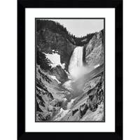 Framed Art Print 'Yellowstone Falls, Yellowstone National Park, Wyoming. ca. 1941-1942' by Ansel Adams