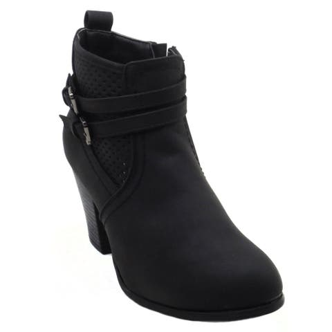 BLUE Womens DOLDA Low Heel Ankle High Fashion Boots