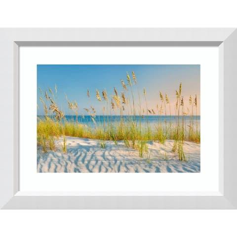 Framed Art Print 'Sea Oats' by Dennis Frates