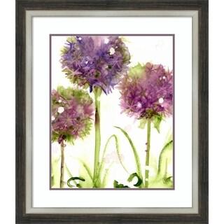 Framed Art Print 'Alliums' by Dawn Derman