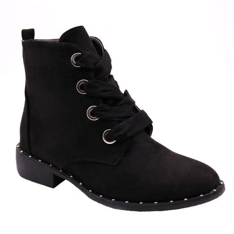 BLUE Womens VIVI Ankle High Lace Up Fashion Boots by  Wonderful
