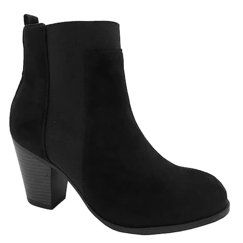 Blue Womens Low Heel Ankle High Slide Fashion Winter Fall Boots