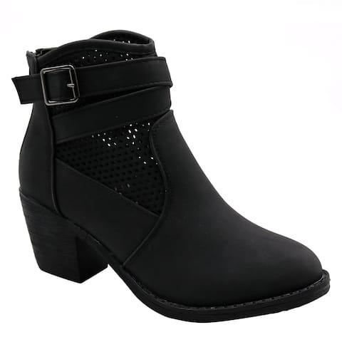 BLUE Womens Guba Low Heel Ankle High Fashion Boots