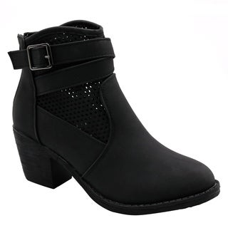 BLUE Womens Guba Low Heel Ankle High Fashion Boots