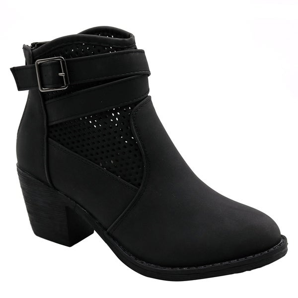 BLUE Womens Guba Low Heel Ankle High Fashion Boots. Opens flyout.