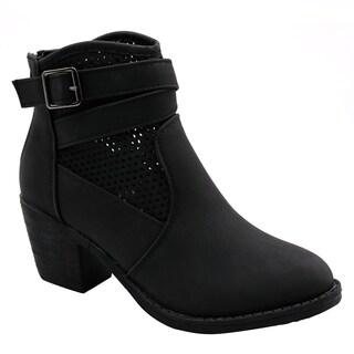 Blue Womens Guba low heel ankle high back zip fashion boots