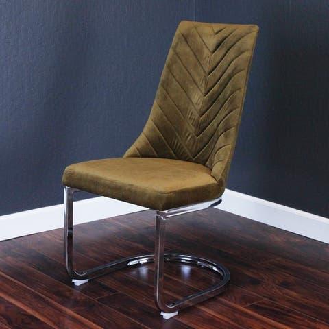 Silver Orchid Duse Velvet Chair