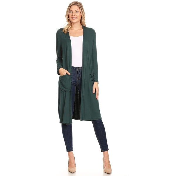 Women's Casual Solid Duster Sweater Cardigan. Opens flyout.