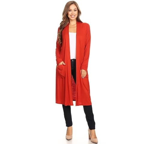Women's Casual Solid Duster Sweater Cardigan