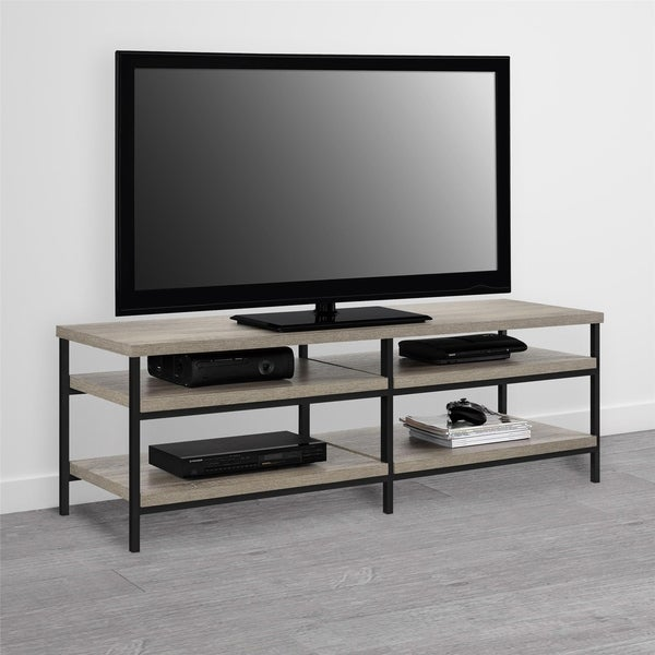 Shop Ameriwood Home Elmwood Distressed Gray Oak 60 Inch Tv Stand