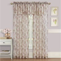 Royal Court Chambord Crushed Sheer Floral Window Panel