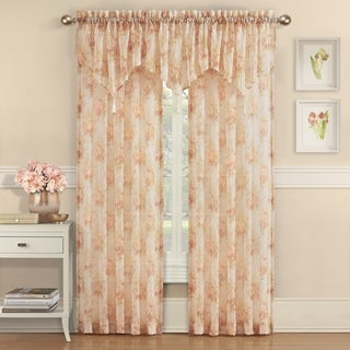 Royal Court Eliana Crushed Sheer Floral Window Panel