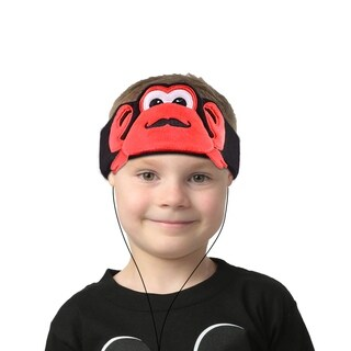 Contixo Kids Crab Fleece Headphones H1 Wired, Ultra-Thin 85dB Volume Limiting Hearing Protection Soft Fleece Headband