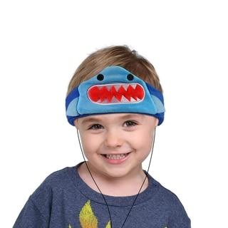 Contixo H1 Soft Kids Fleece Headphones Kid-Safe Volume Limited 85dB Ultra-Thin Speakers Headphones for Kids-Blue Shark