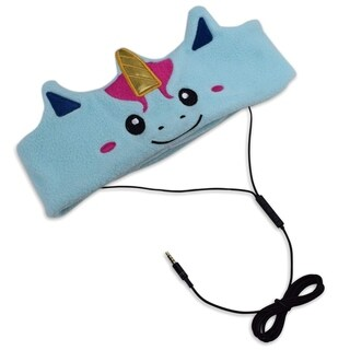 Contixo Kids Unicorn Fleece Headphones H1 Wired, Ultra-Thin 85dB Volume Limiting Hearing Protection Soft Fleece Headband