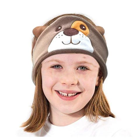 Contixo H1 Soft Kids Fleece Headphones Kid-Safe Volume Limited 85dB Ultra-Thin Speakers Headphones for Kids-Brown Dog