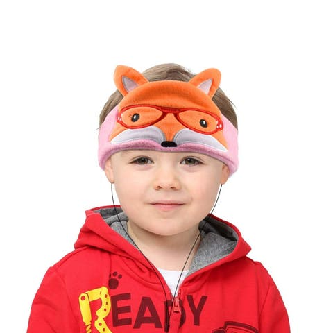 Contixo H1 Soft Kids Fleece Headphones Kid-Safe Volume Limited 85dB Ultra-Thin Speakers Headphones for Kids-Orange Fox