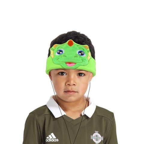 Contixo H1 Soft Kids Fleece Headphones Kid-Safe Volume Limited 85dB Ultra-Thin Speakers Headphones for Kids-Green Dinosaur