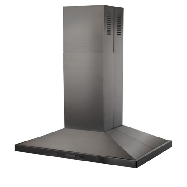 ZLINE 36 in. 760 CFM Island Mount Range Hood in Black Stainless Steel (BSGL2i-36)