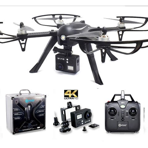 Contixo F17+ RC Quadcopter Photography Drone 4K Ultra HD Camera 16MP, Brushless Motors, 1 High Capacity Battery, Alum Hard Case