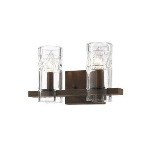 Millennium Lighting Brighton Brown Steel/Glass 2-light Reversible Vanity Light Fixture