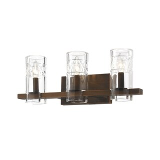 Millennium Lighting Brighton Glass and Metal 3-light Reversible Vanity