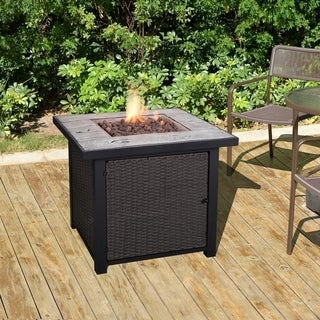 Peaktop - Outdoor Square Propane Gas Fire Pit