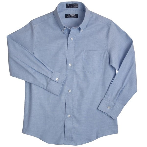 French Toast Long Sleeve Oxford Shirt(Size 2T-4T) Boys