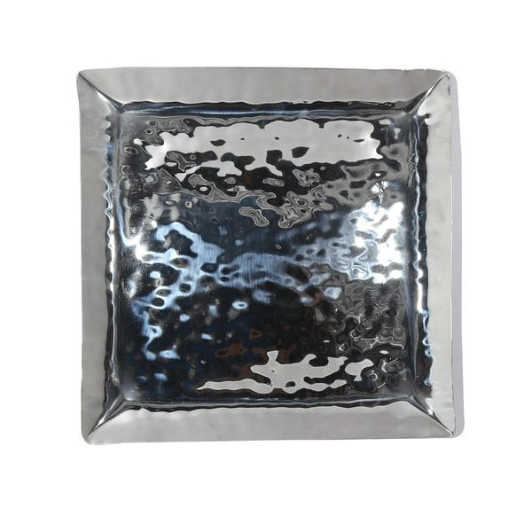 """Full Polished Stainless Steel 12"""" Square Service Tray.. Opens flyout."""