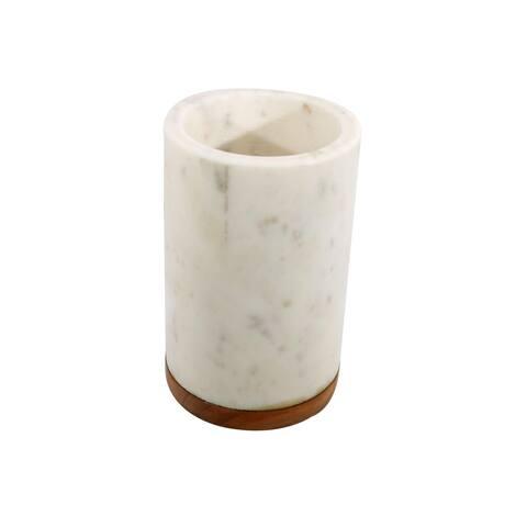 White Marble Stone Wine Bottle Cooler.