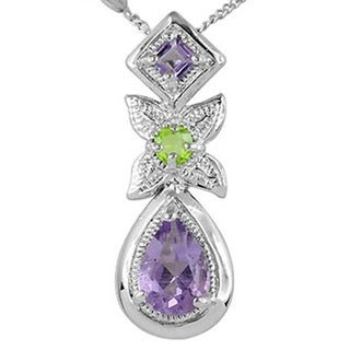 1 09 Ct Purple Amethyst Sterling Silver By Orchid Jewely For Women