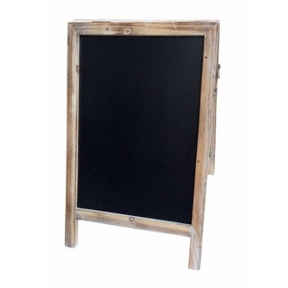 Cheung's Large Distressed Double Sided Wood Frame A-Stand Chalkboard with Side Hinges - Brown