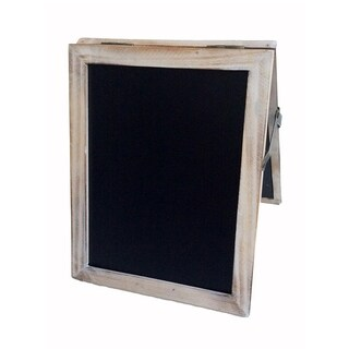 Cheung's Small Distressed Double Sided Wood Frame A-Stand Chalkboard with Side Hinges - Brown
