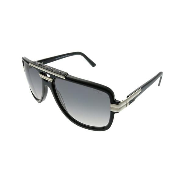 5ab1eb6f6b Cazal Aviator Cazal 8037 003 Unisex Matte Black Silver Frame Grey Gradient  Lens Sunglasses