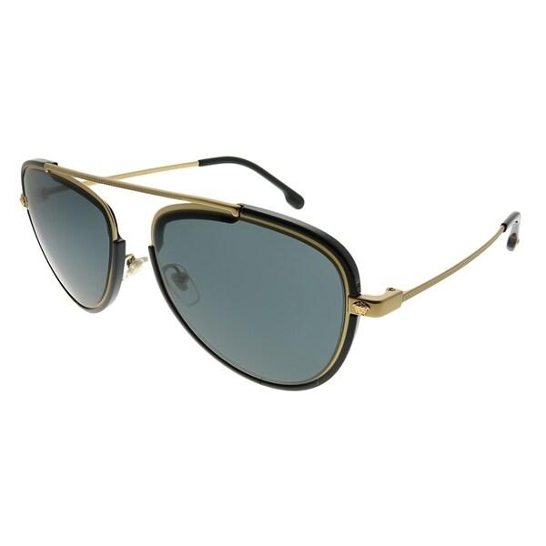 8372e13bb200 Versace Aviator VE 2193 142887 Unisex Tribute Gold Black Frame Grey Lens  Sunglasses