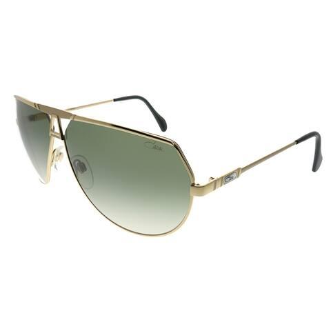 Cazal Aviator Cazal 953 097 Unisex Gold Frame Green Gradient Lens Sunglasses
