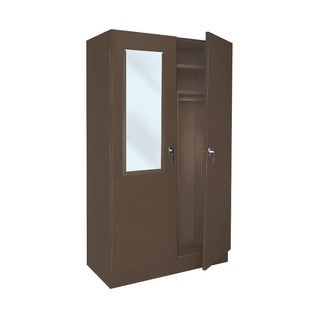 Offex Wardrobe Closet with Secure Enclosed Storage