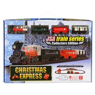 LEC Christmas Express Steam Locomotive American 4-4-0 Battery Operated Train Set