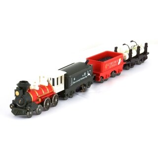 LEC Christmas Express Steam Locomotive American 4-4-0 Battery Operated Train