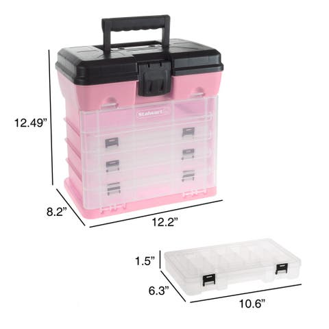 Storage and Tool Box with 4 Compartments by Stalwart