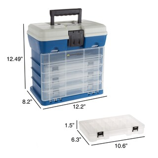 Storage Tool Box 4 Drawers, 19 Compartments by Wakeman Outdoors