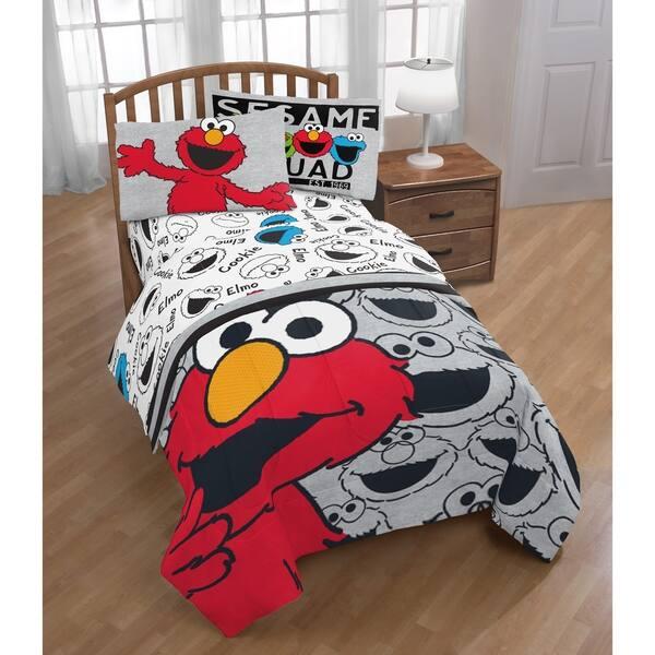 Sesame Street Hip Elmo Twin Sheet Set