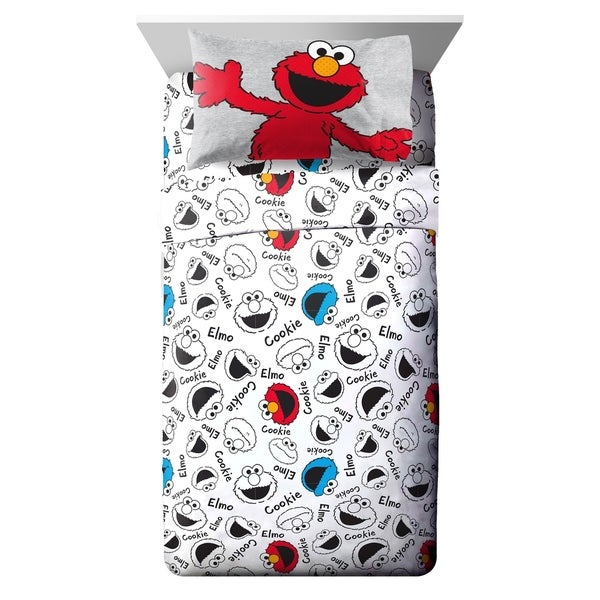 Sesame Street Hip Elmo Twin Sheet Set