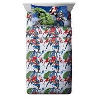 Marvel Avengers Blue Circle Twin Sheet Set