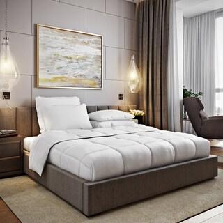 DOWNLITE HOME Hypoallergenic PrimaLoft Comforter with Duvet Loops