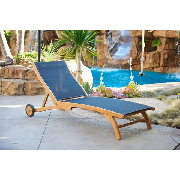 Pearl Teak Outdoor Chaise Lounge